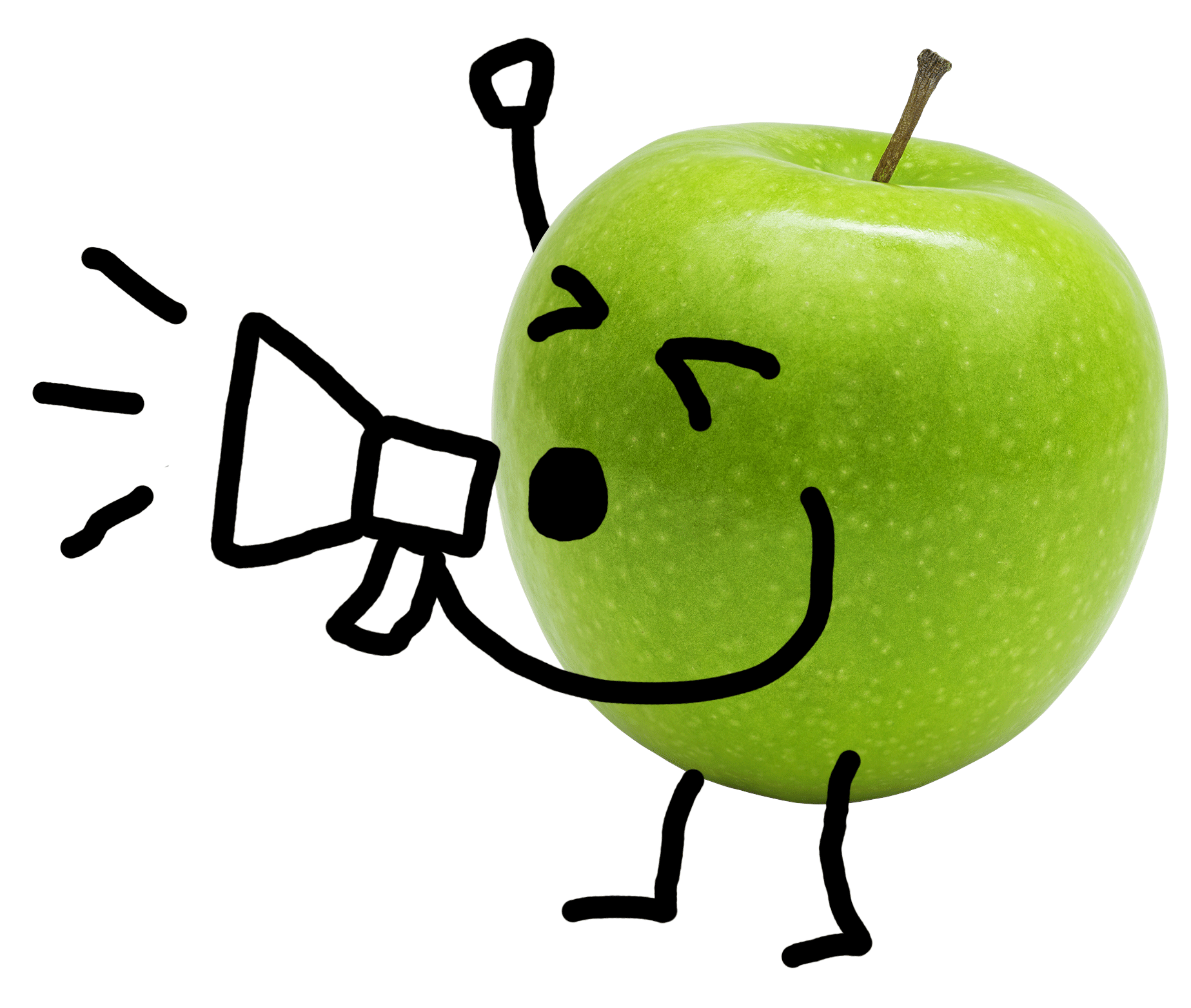 Green Apple shouting image